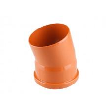 Колено для наружной канализации 110х15 РосТурПласт (Отвод нар.110х15)