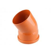 Колено для наружной канализации 110х30 РосТурПласт (Отвод нар.110х30)