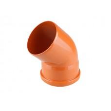 Колено для наружной канализации 110х45 РосТурПласт (Отвод нар.110х45)