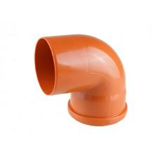 Колено для наружной канализации 110х87 РосТурПласт (Отвод нар.110х90)